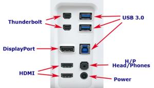 tipos de conectores de monitores gaming