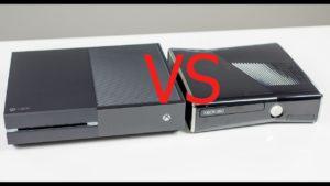 XBOX ONE VS XBOX 360 S 1